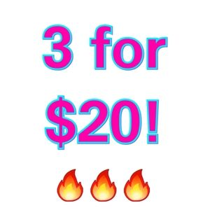 Bundle any 3 items with  the 🔥 symbol for $20!